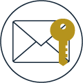 icon security mail