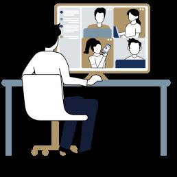 ecclesias Videokonferenz Illustration